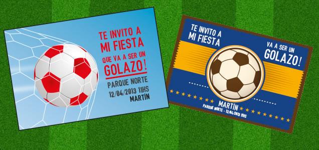 Tarjetas De Invitación Fiesta De Futbol Imagui